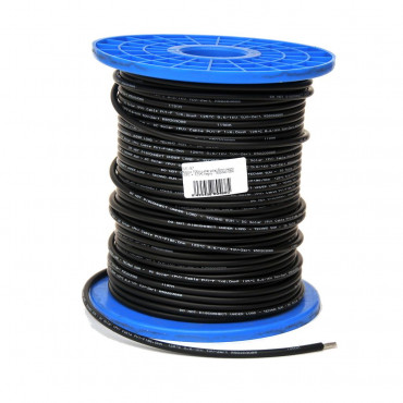 Cable solar 6 mm. negro