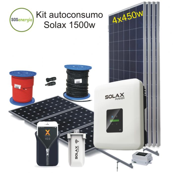 SOSenergia - Kit autoconsumo Solax 1500w