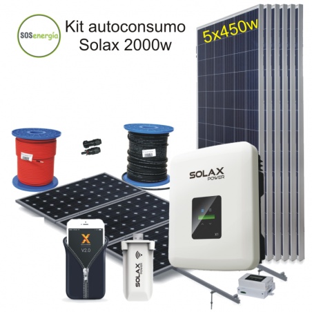 Sosenergia - Kit Solax 2000w