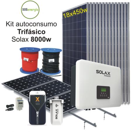 SOSenergia - Kit trifásico 8000w Solax