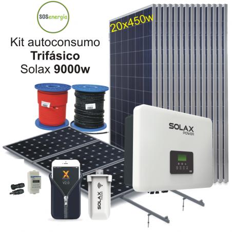 SOSenergia - Kit trifásico 9000w Solax