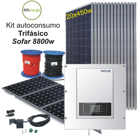 SOSenergia - Kit Sofar 8800w trifásico