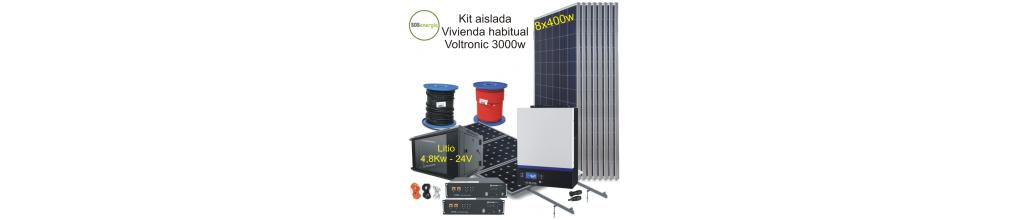 Kits solar fotovoltaica aislada